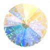 Swarovski Stones 1122 Rivoli 18mm Aurora Borealis Crystal 6Pcs